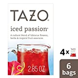Tazo Iced Passion Herbal Tea Filterbags, 6 count (pack of 4)