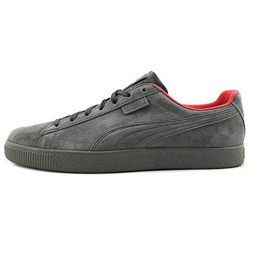Puma Mens X Clyde Fiocco Caviglia-alta Pelle Scamosciata Sneaker