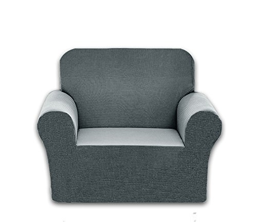 Chelzen Stretch Sofa Covers Polyester Spandex Fabric Couch Slipcovers (Chair, Light ()