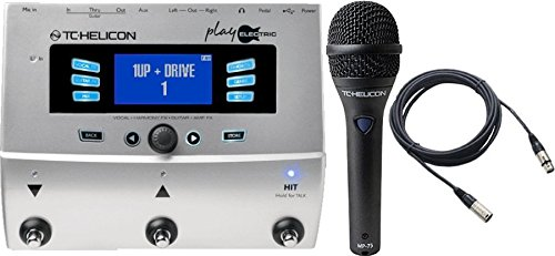 TC Helicon Play Electric Vocal Effects Processor and TC MP75 Mic & Cable Bundle by TC-Helicon