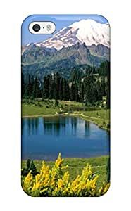 Fashionable Style Case Cover Skin For Iphone 5/5s- Nature Mountains(3D PC Soft Case)