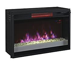 "ClassicFlame 26II310GRG-201 26"" Contemporary Infrared Quartz Fireplace Insert with Safer Plug by Twin Star International, Inc."