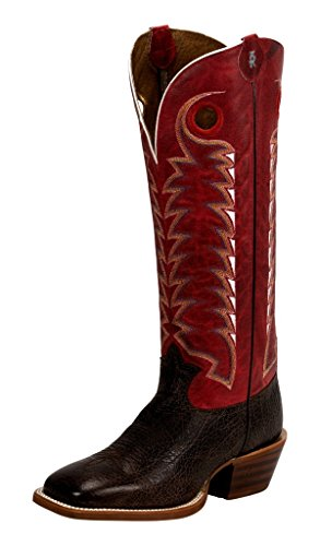 Tony Lama Men's Dusky Bonham 3R Buckaroo Cowboy Boot Square Toe Dark Brown 12 EE US (Square Toe Buckaroo Boots)