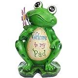 18″ High, Solar Frog Statuary
