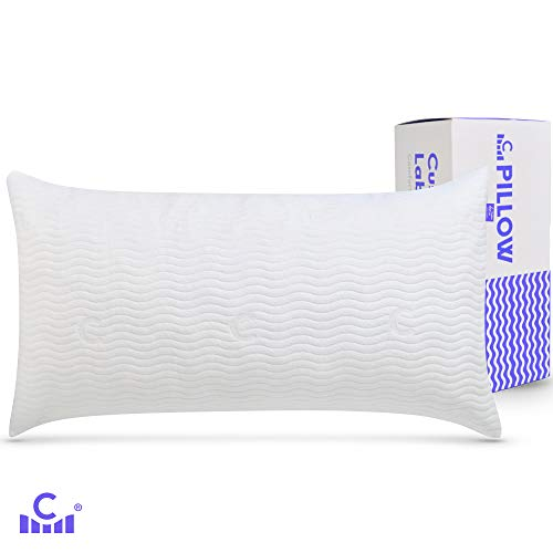 Cushion Lab Adjustable Shredded Memory Foam Pillow for Back, Stomach, Side Sleeper - Bamboo Pillow for Sleeping & Neck Pain Relief, Washable Hypoallergenic Cover, CertiPUR US - 20 X 36 Size, King