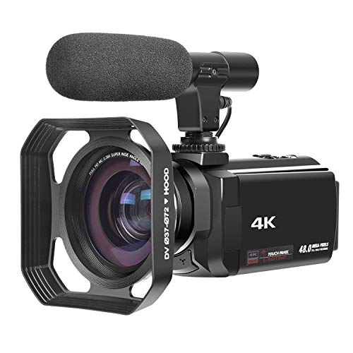 4K Camcorder with Microphone Ultra-HD 48MP Digital Camera 3.0 Touch Screen Vlogging Camera WiFi Digital Video Camera IR Night Vision Camcorder with lens