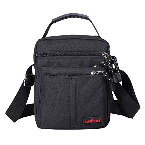 Men's Messenger Bag-Crossbody Shoulder Bags Travel Bag Man Purse Small Sling Pack for Work Business (1893-Black)