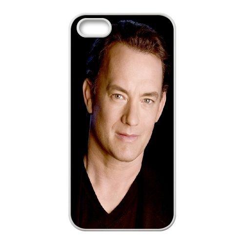 Tom Hanks Man Brunette Face Smile Celebrity Background coque iPhone 4 4S cellulaire cas coque de téléphone cas blanche couverture de téléphone portable EOKXLLNCD20460