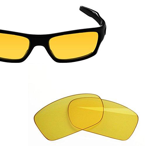 BlazerBuck Anti-salt Replacement Lenses for Oakley Turbine - High Intensity yellow