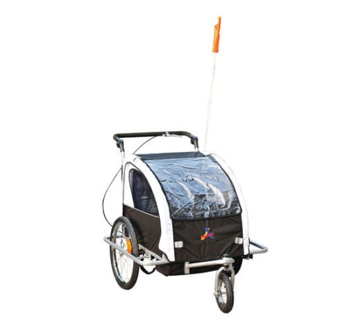 2In1 Double Baby Bicycle Bike Trailer And Stroller - 6