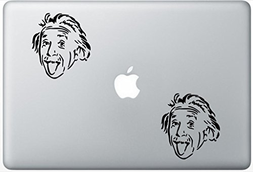 Albert Einstein ArcDecals78600067 Set Of Two (2x) , Decal , Sticker , Laptop , Ipad , Car , Truck