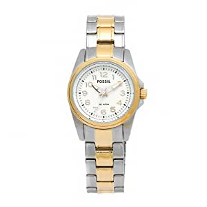 Fossil Women's AM4275 Sport Two-Tone Stainless Steel White Dial Watch