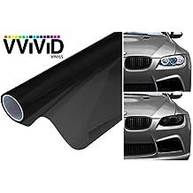 VViViD XPO Matte Black Headlight - Tail Light Window Tint 2-Pack (12in X 24in)