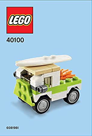 Amazon Lego Surf Van Mini Model Parts Instructions 40100