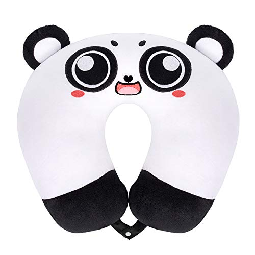 GLAUCUS Kids Travel Pillow Animal Neck Pillow Support U Shaped Cushion Plush for Airplane Train Child's Neck Pillow for Kids -