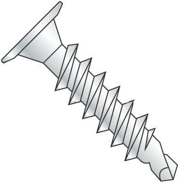 "#10-24 X 1 1/2"" selbst Drilling Screws, Steel, Zinc Plating, Wafer Head, Phillips Drive, 3 Point, Type Csd (Quantity: 3000 Pcs)"