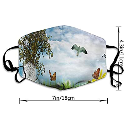 Face Mask Birds and Flowers Designer Cycling Half Face Earloop Dust Mask for Women