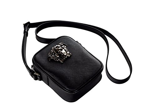 Versace-Palazzo-Medusa-Head-Saffiano-Leather-Cross-Body-Bag-DL25966-DPVCG-Black