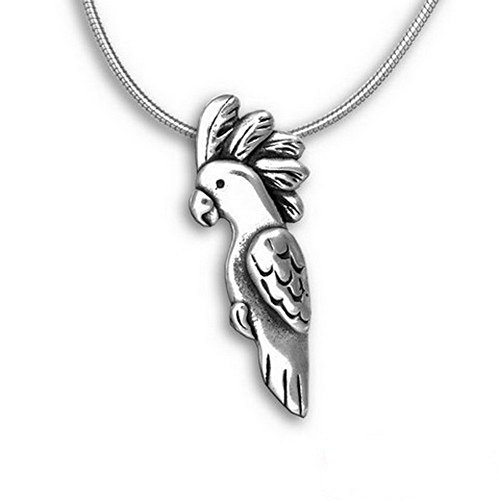 The Magic Zoo Sterling Silver Cockatoo Pin Pendant