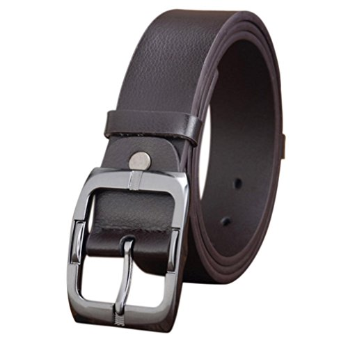 [Mchoice Mens Casual Waistband Leather Automatic Buckle Belt Waist Strap Beltss (Coffee)] (35 Mm Bridle)