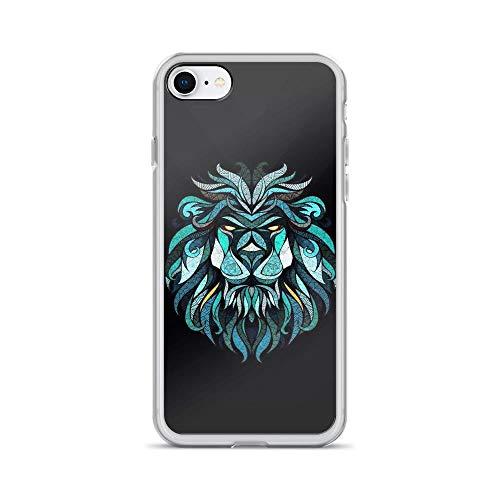 iPhone 7/8 Pure Clear Case Cases Cover Lion Face Mandala Portrait Drawing]()