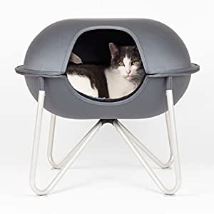 Hepper - Pod - Modern Cat Bed, Perch, House or Condo - Washable Lining - Grey