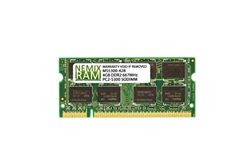 - 4GB (1x4GB) DDR2-667MHz PC2-5300 2Rx8 1.8V SODIMM Memory for Laptop, Notebook