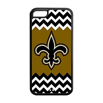 ATaZ Black And White Chevron New-Orleans Saints Phone Otterboxes Covers Cases for iPhone 5C TPU