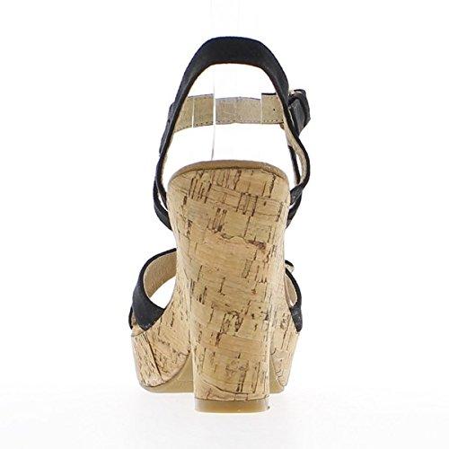 ChaussMoi - Sandalias de vestir de lona para mujer