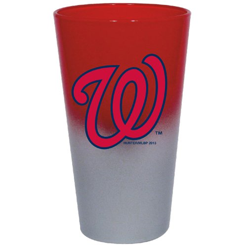 (Hunter Mfg. LLP MLB Washington Nationals Color Chrome Mixing Glass, 17-Ounce)