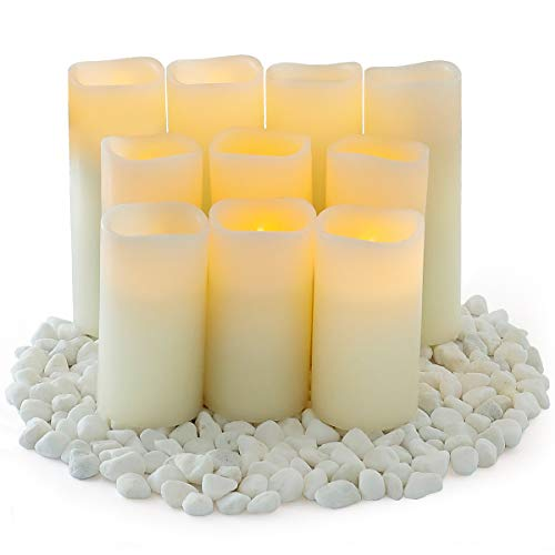 Flameless Candles,Salipt LED Flickering Candles Set of 10 (H 4