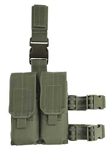 (VooDoo Tactical 20-9308004000 Drop Leg Platform with Attached M4/M16 Double Mag Pouch,)
