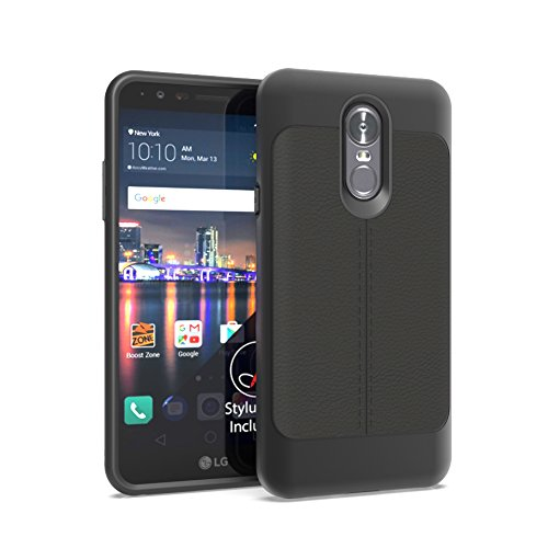 LG Stylo 4 Case [Anbobo] With Heavy Duty Protection Hybrid Hard Shockproof Two in one Cover for LG Stylo 4/LG Q Stylus (Black)