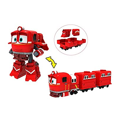 ROBOT TRAINS- Deluxe Transformable Figurine ALF-80185, 80185, NC: Toys & Games