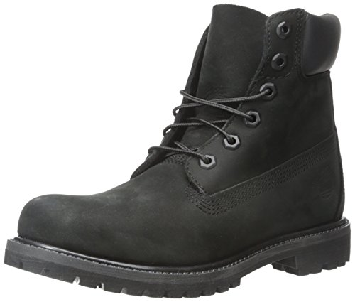 "Timberland Women's 6"" Premium Boot Black Nubuck 9.5 B - Medium"