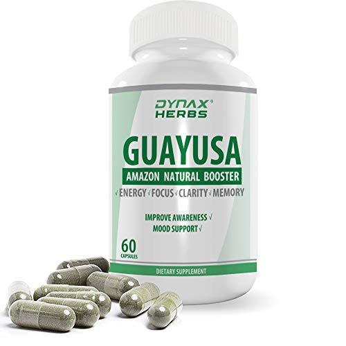 Dynax Guayusa Nootropic 1st Loose Leaves Powder Capsule Natural Amazon  Antioxidants and Caffeine, Tea Substitute, Brain Booster Organic Pure