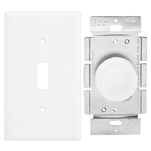 Enerlites 8811 W Toggle Light Switch Wall Plate 1 Gang