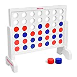 GoSports Giant 4 in a Row Game with Carrying Case - 2 foot Width - Made from Wood