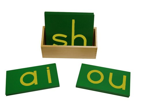 Montessori Lower Case Double Sandpaper Letters w/ Box