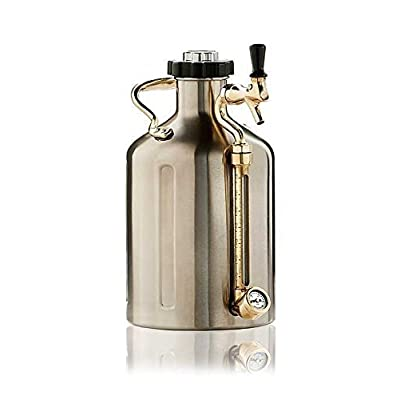 GrowlerWerks uKeg 128 Pressurized Growler for Craft Beer
