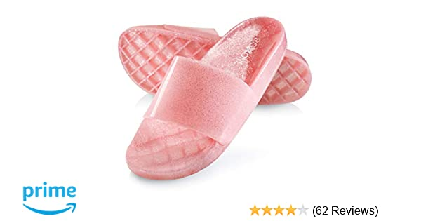ba30ef4bc35f Amazon.com | Roxoni Women's Summer Flip Flop Open Toe Jelly Glitter Slide  Sandal Slippers | Slides