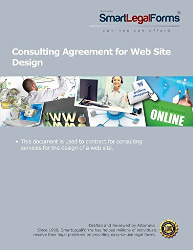 Consulting Agreement For Web Site Design  Instant Access