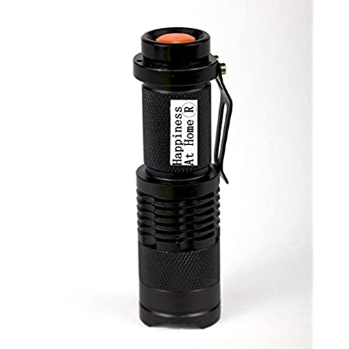 affordable Sipik SK68 Mini Adjustable Zooming LED Flashlight Black