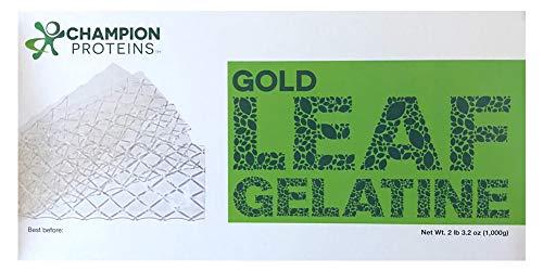 - Gold Leaf Gelatin Sheets, 500 Sheets, 200 Bloom, Champion Leaf Gelatine, 1/KG (2.2/Lbs)