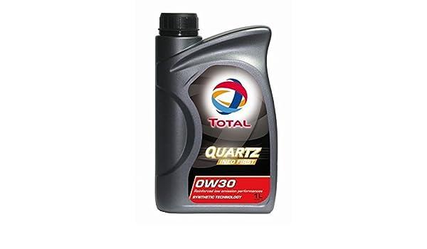 Total Aceite Lubricante 1 L Quartz Ineo First 0W30: Amazon.es: Coche y moto