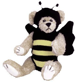 TY Attic Treasures Beezee Bear Bumble Bee Jointed 8