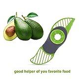 Hestier 3 In 1 Avocado Slicer And Pitter Green - Multi-Functional Avocado Peeler Cutter Skinner And Corer Tool