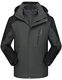 e50764e7e98d5 Hoodies for Men Big and Tall.Men s Winter Outdoor Outfit Two Piece Three in  One