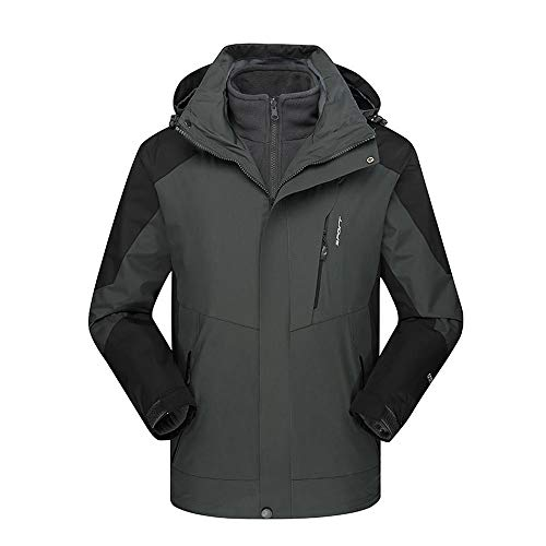 DaySeventh Men's Winter Outdoor Outfit Two Piece Three in One Waterproof Breathable Coat