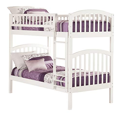 Atlantic Furniture AB64102 Richland Bunk Bed, Twin/Twin, White